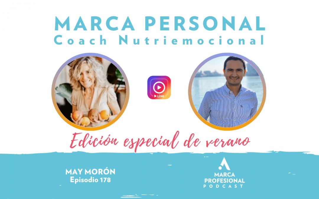 MARCA PERSONAL: coach nutriemocional. May Morón