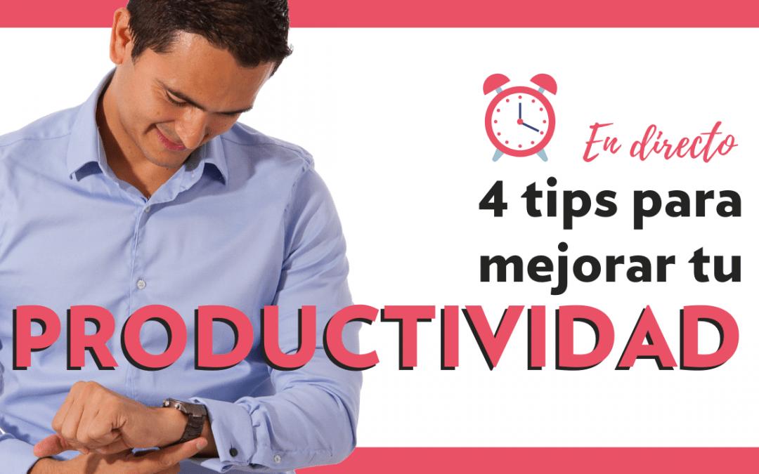 Tips de organización y PRODUCTIVIDAD